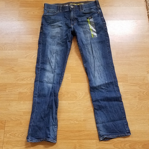 1fa88440 Lee Jeans | Nwt S Straight Fit Extreme Motion 34x34 | Poshmark